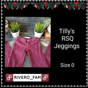 Tilly's RSQ -  Burgundy Jeggings
